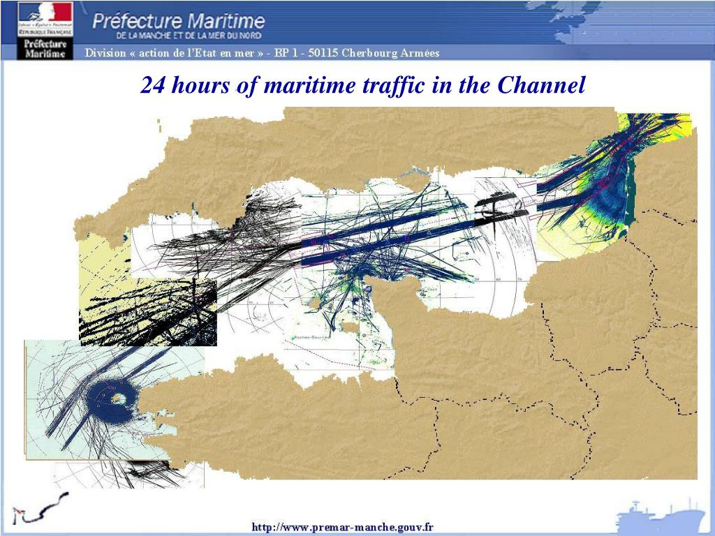 24 hours of maritime traffic in the Channel