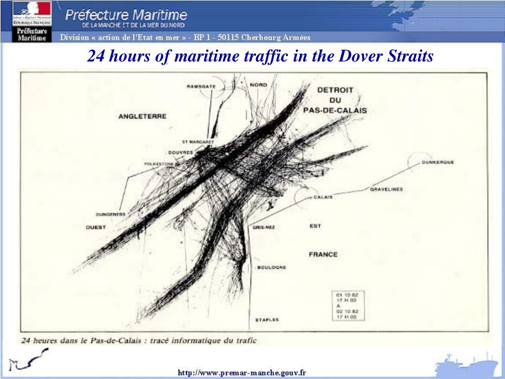 24 hours of maritime traffic in the Dover Straits