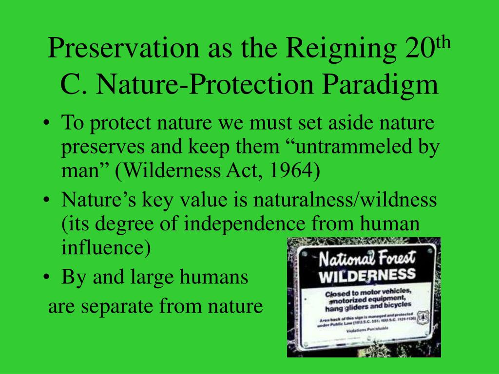 Preservation as the Reigning 20