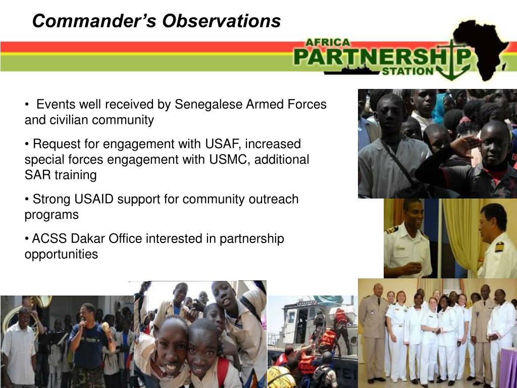 Commander's Observations