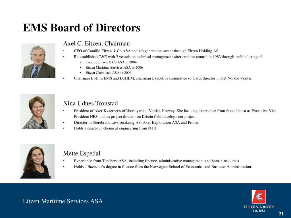 EMS Board of Directors