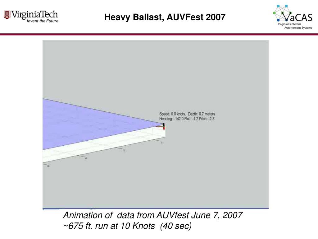 Heavy Ballast, AUVFest 2007