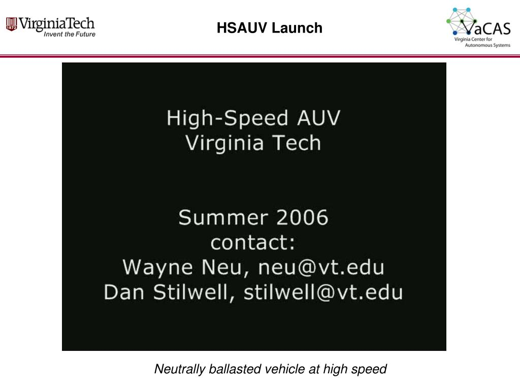 HSAUV Launch