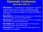 diplomatic conference december 2002 2