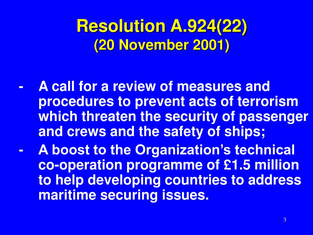 Resolution A.924(22)