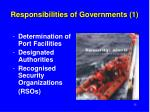 responsibilities of governments 1