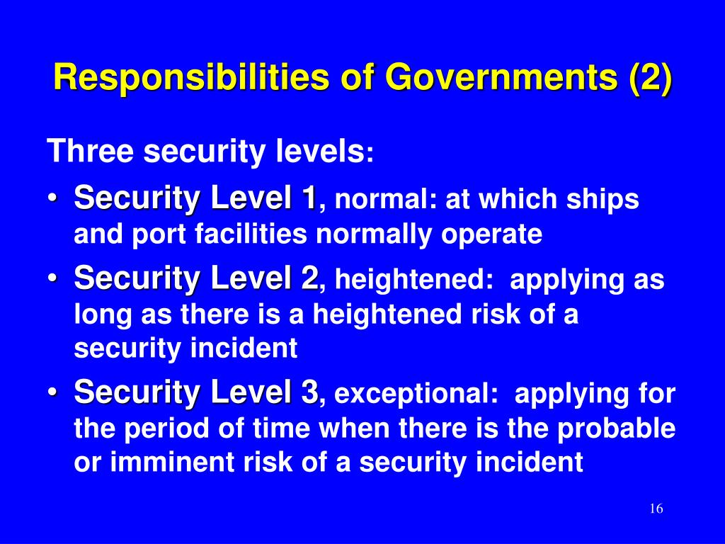 Responsibilities of Governments (2)