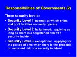 responsibilities of governments 2