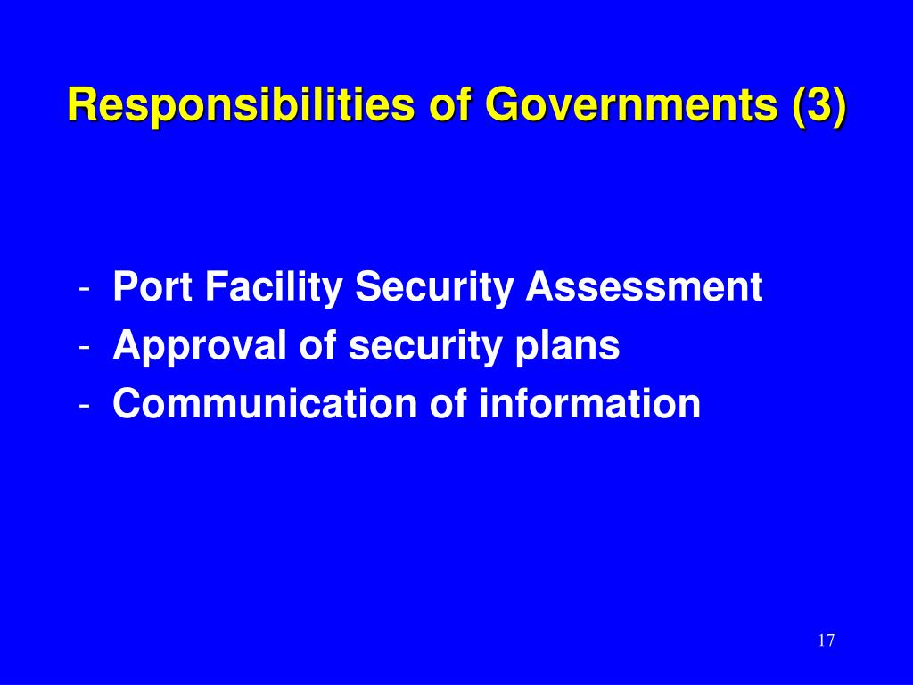 Responsibilities of Governments (3)