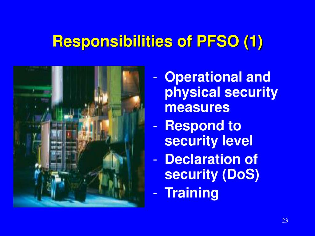 Responsibilities of PFSO (1)