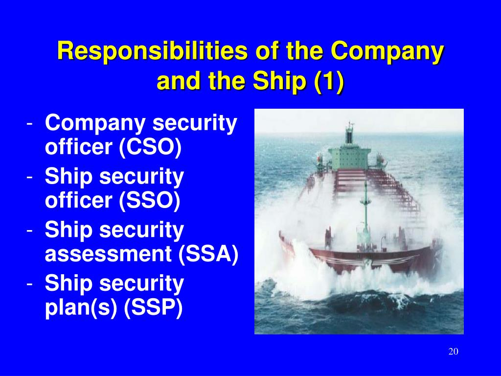 Responsibilities of the Company and the Ship (1)