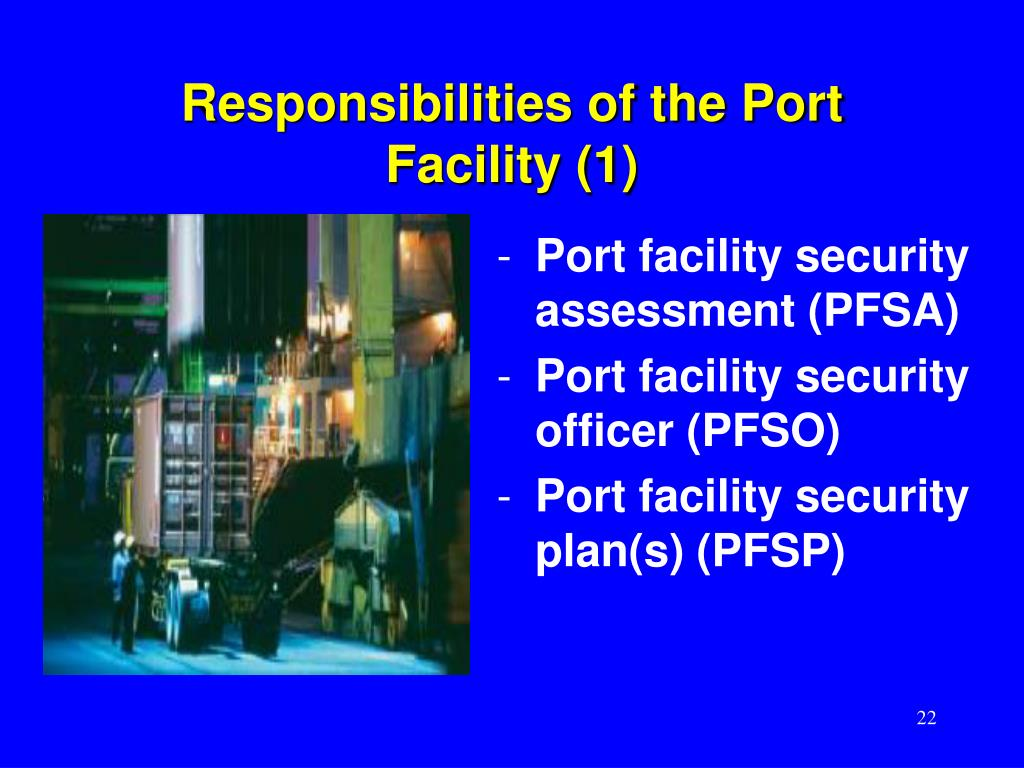 Responsibilities of the Port Facility (1)