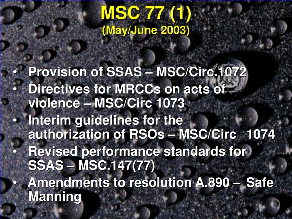 MSC 77 (1)
