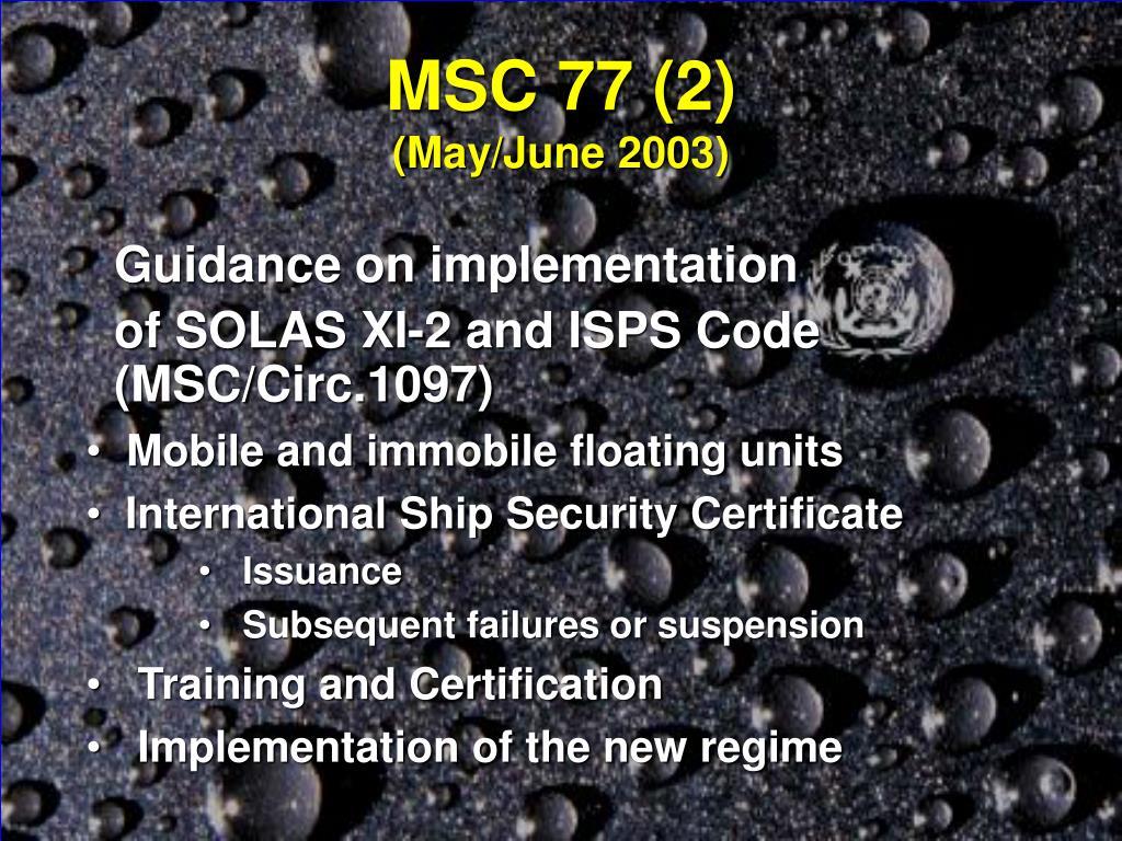 MSC 77 (2)