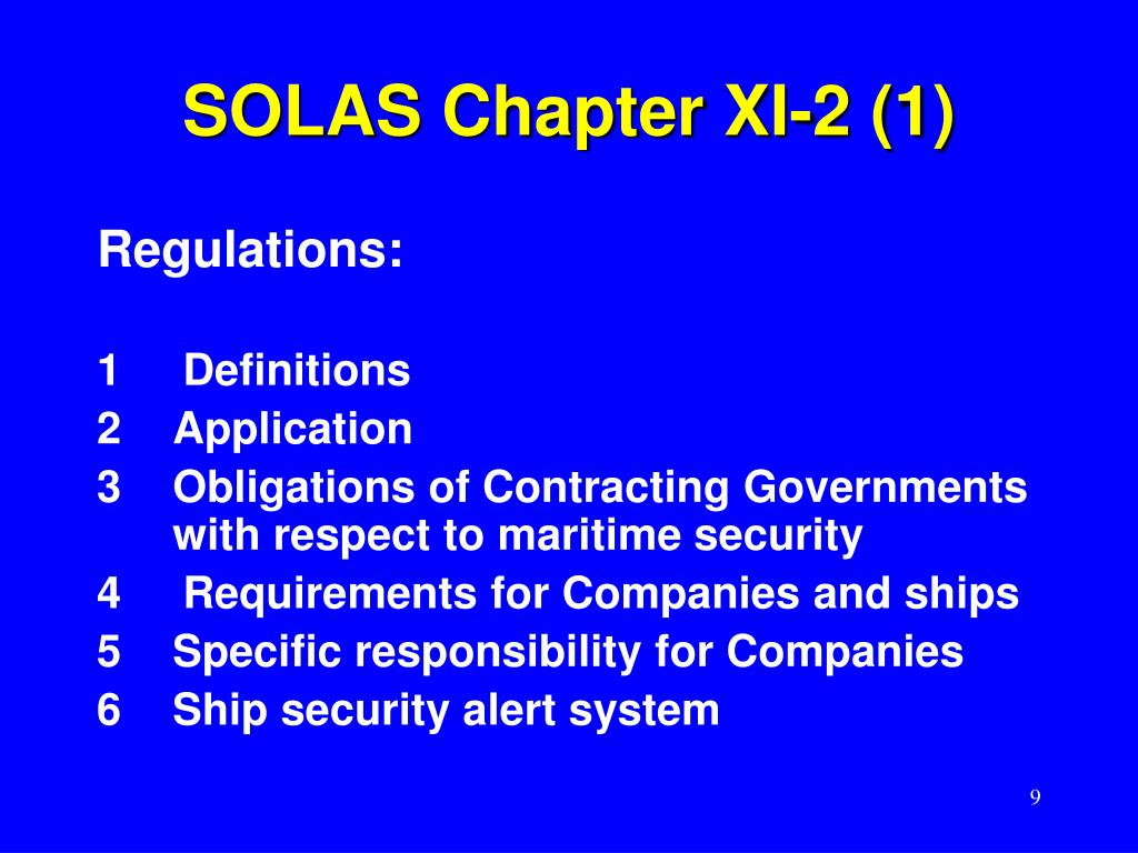 SOLAS Chapter XI-2 (1)