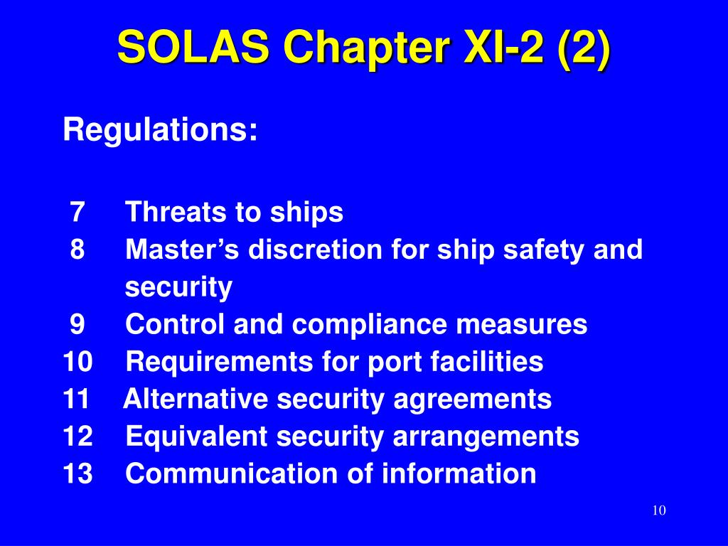 SOLAS Chapter XI-2 (2)