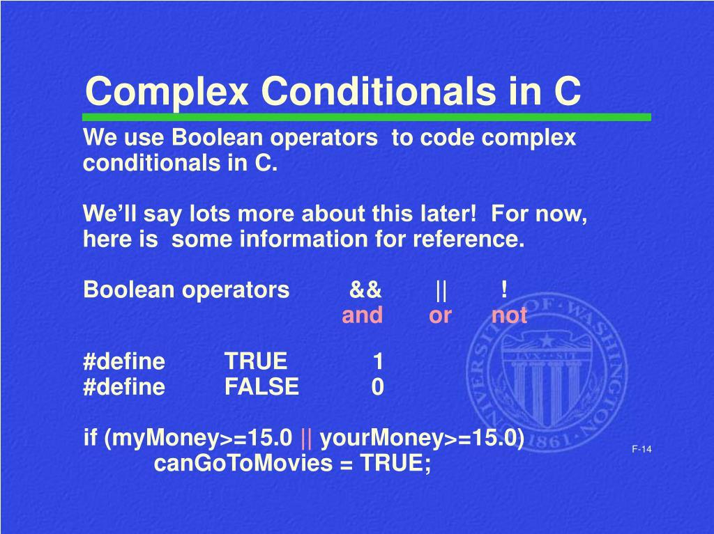 Complex Conditionals in C
