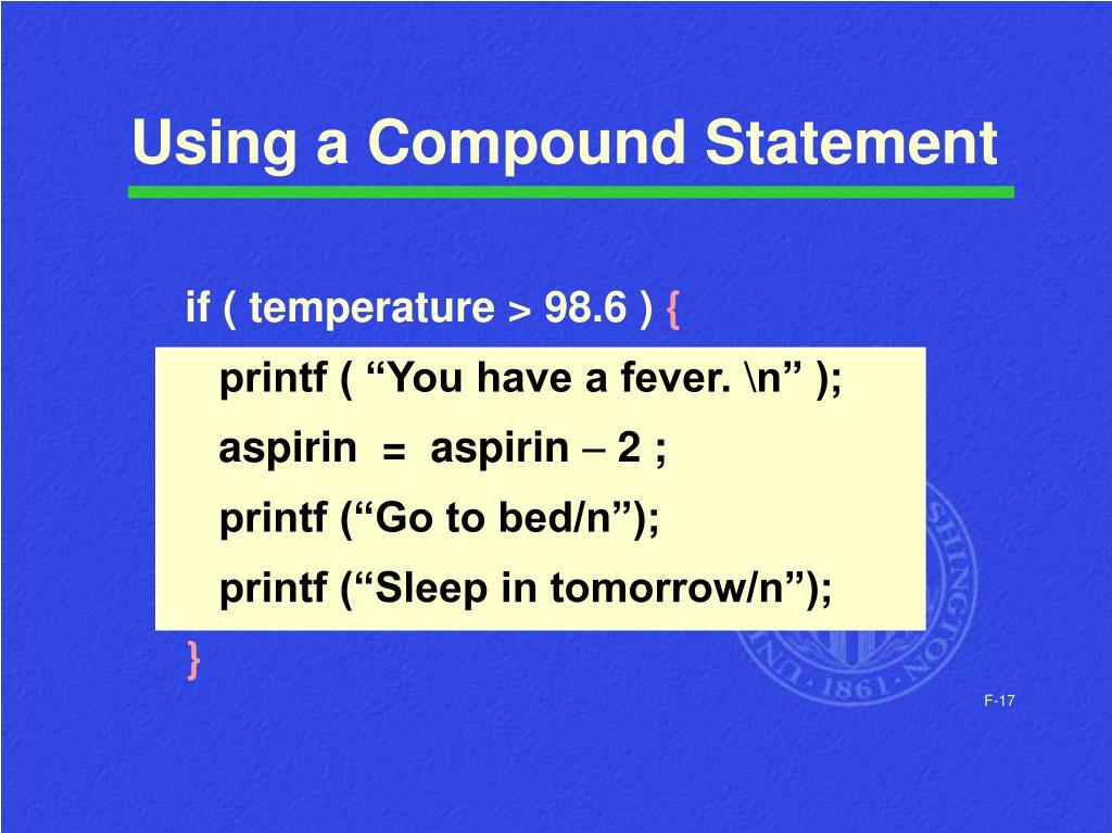 Using a Compound Statement