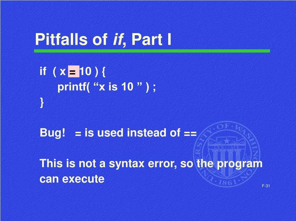 Pitfalls of