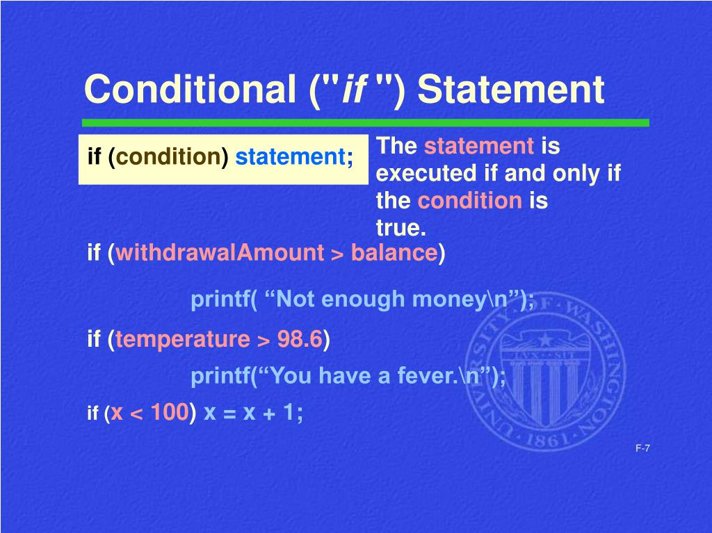 "Conditional ("""