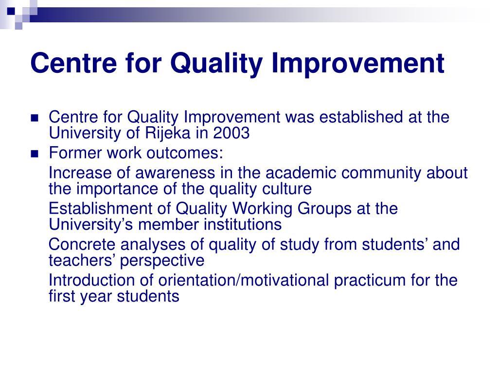 Centre for Quality