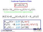 landscape equation of state