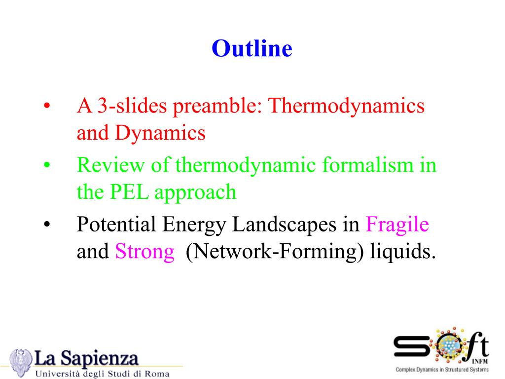 A 3-slides preamble: Thermodynamics and Dynamics