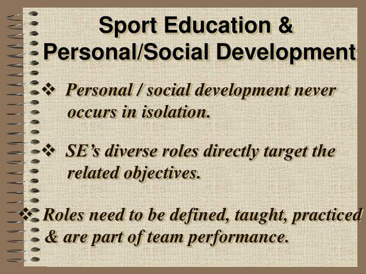 Sport Education &