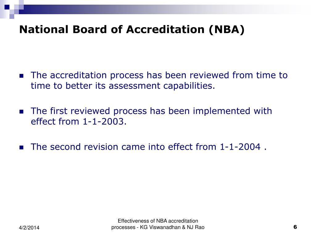 National Board of Accreditation (NBA)