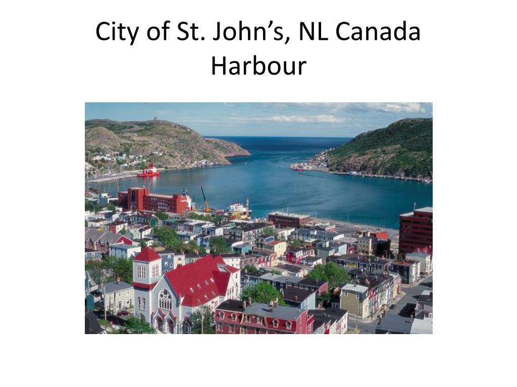 City of St. John's, NL Canada