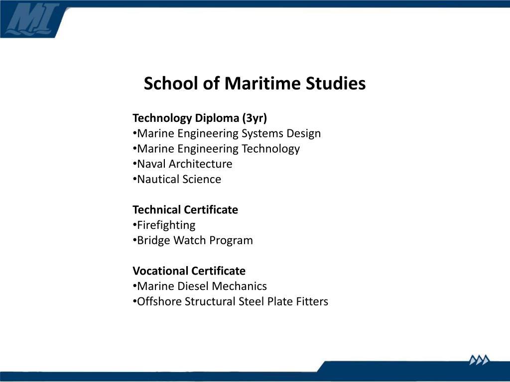School of Maritime Studies