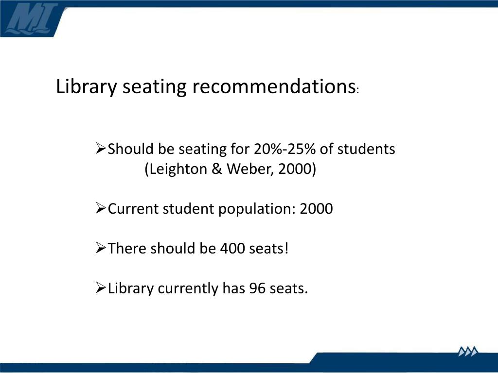 Library seating recommendations