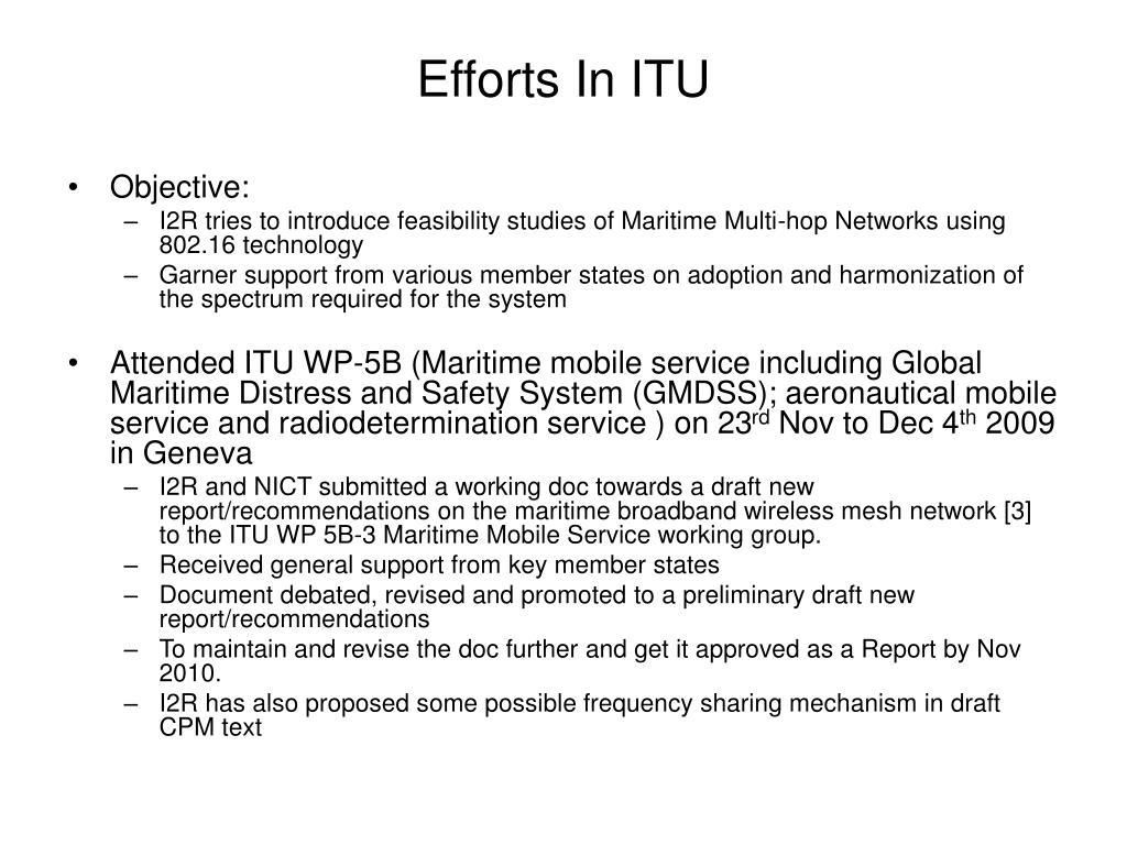 Efforts In ITU