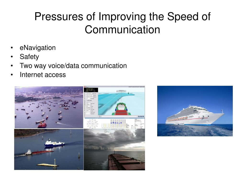 Pressures of Improving the Speed of Communication