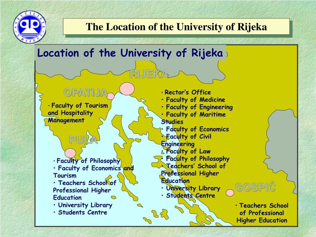 The Location of the University of Rijeka