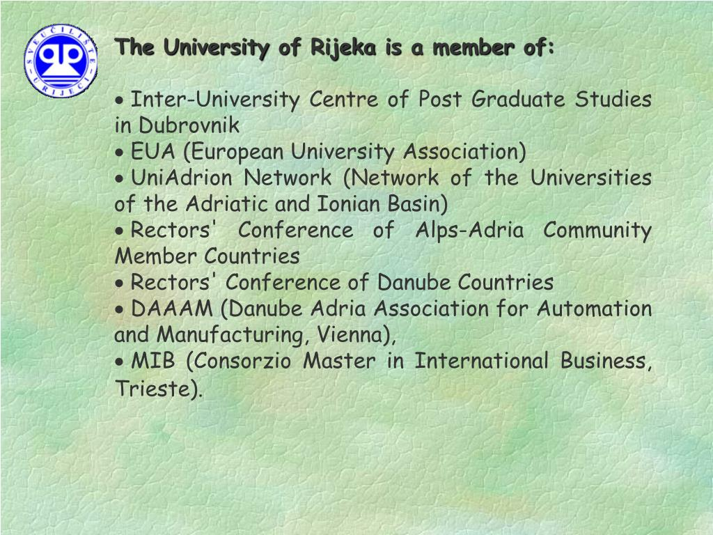The University of Rijeka is a member of: