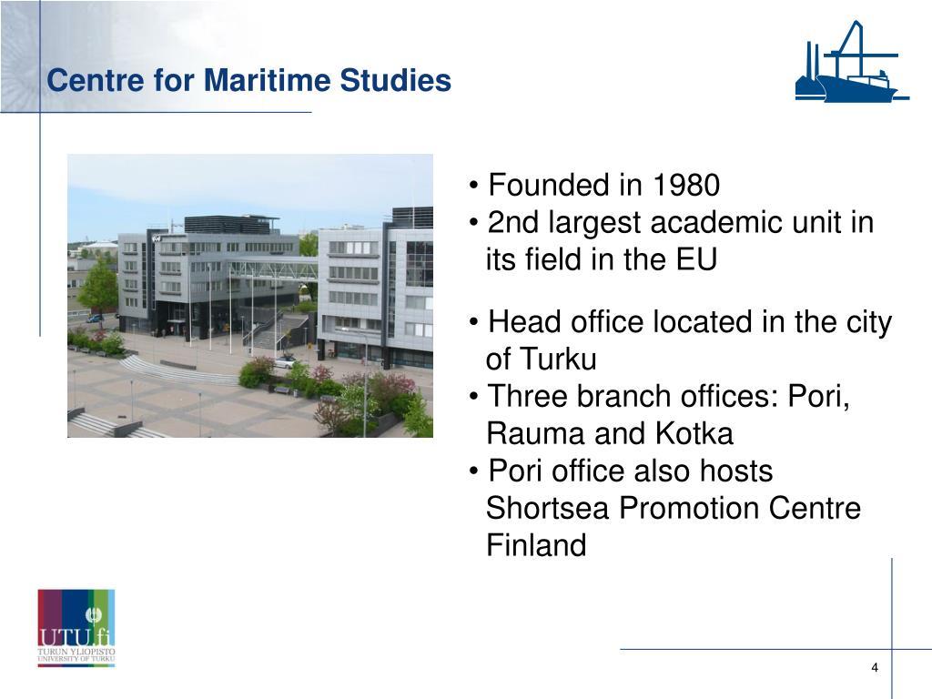 Centre for Maritime Studies