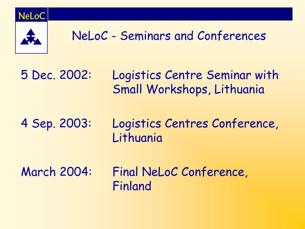 NeLoC - Seminars and Conferences