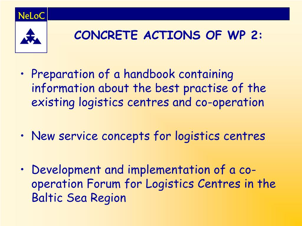 CONCRETE ACTIONS OF WP 2: