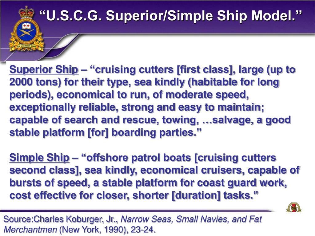"""""""U.S.C.G. Superior/Simple Ship Model."""""""