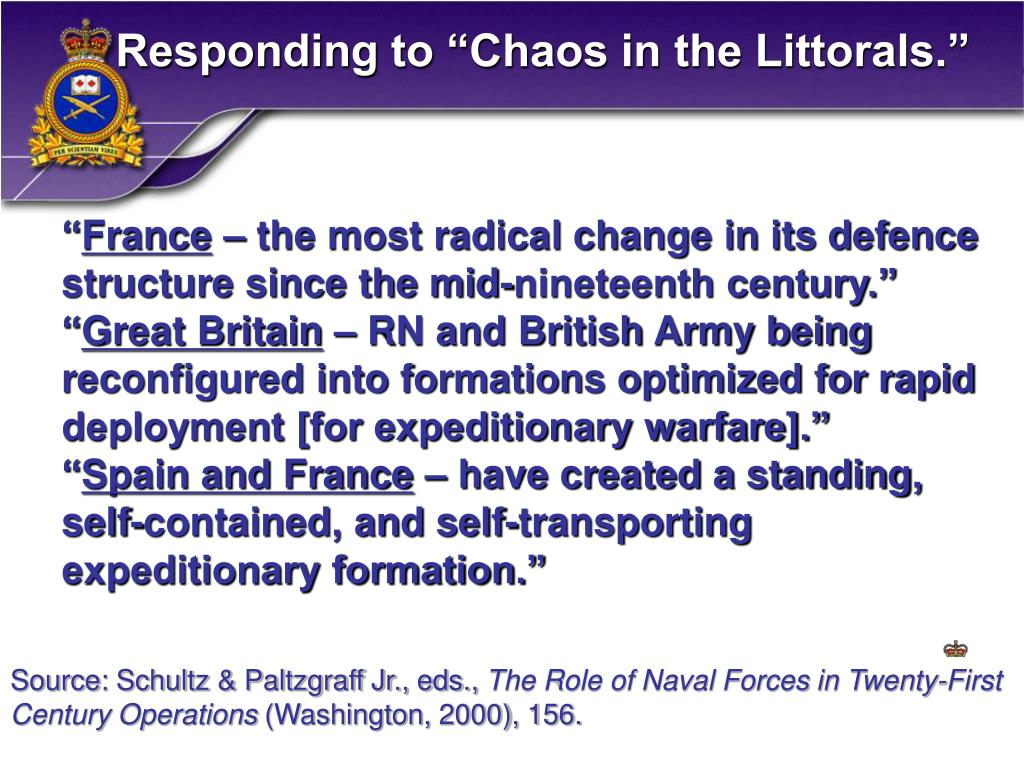"Responding to ""Chaos in the Littorals."""