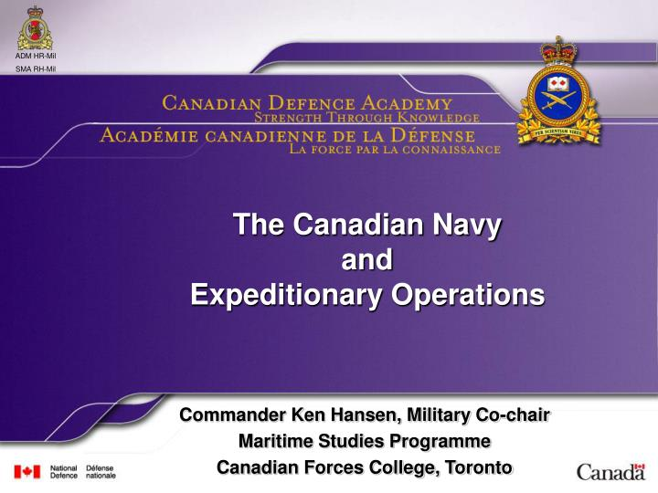 The canadian navy and expeditionary operations