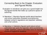 connecting back to the chapter evaluation and figured worlds
