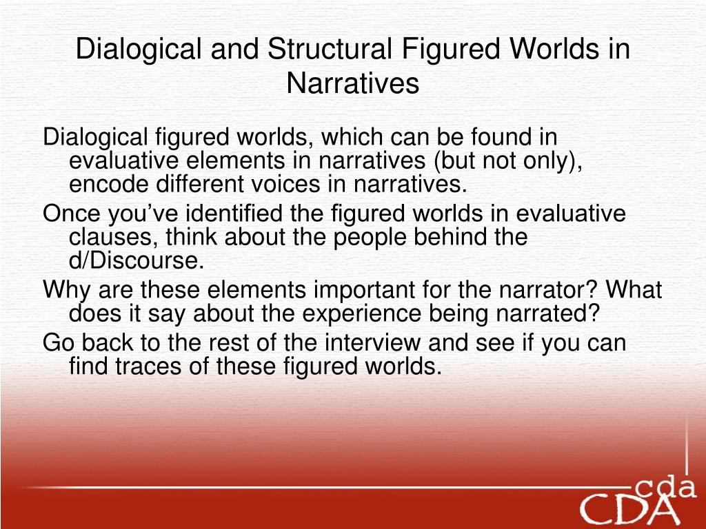 Dialogical and Structural Figured Worlds in Narratives
