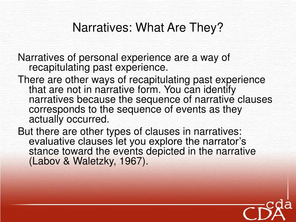 Narratives: What Are They?