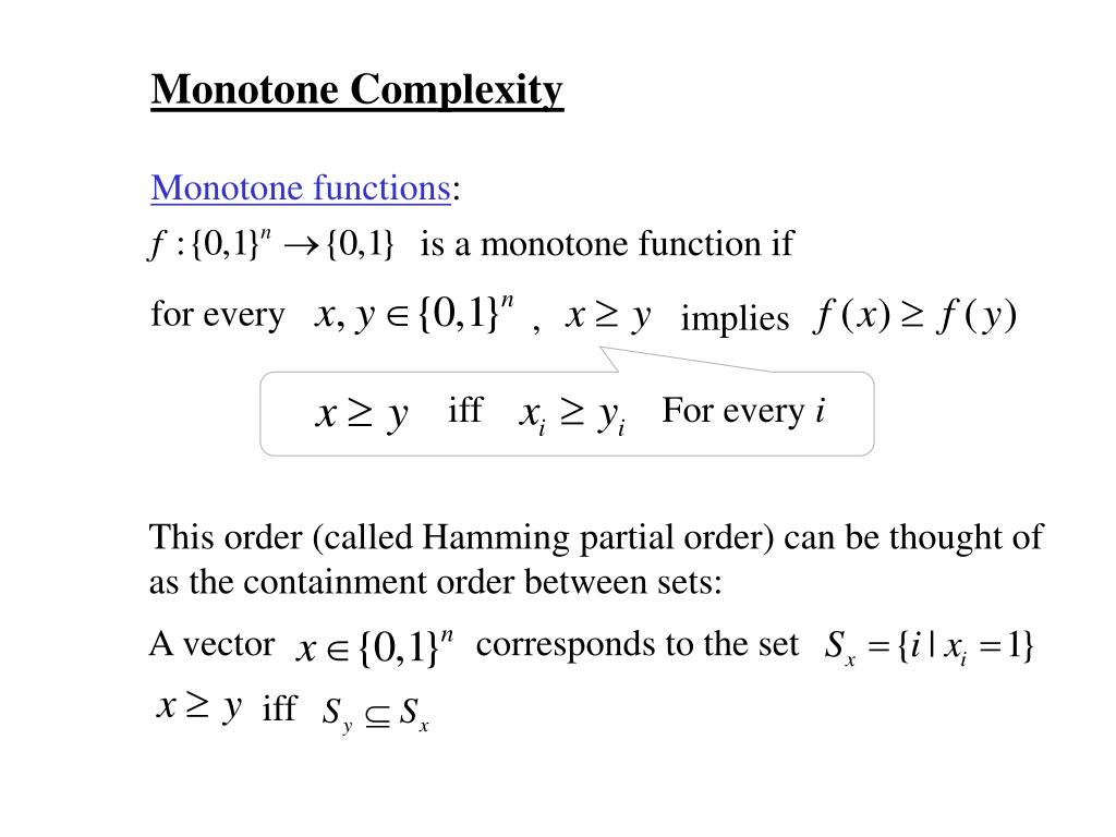 is a monotone function if