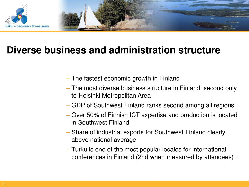 Diverse business and administration structure