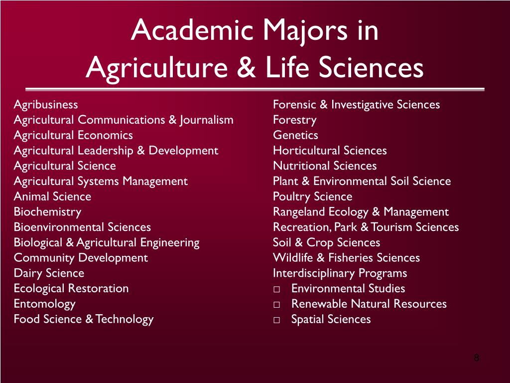 Academic Majors in