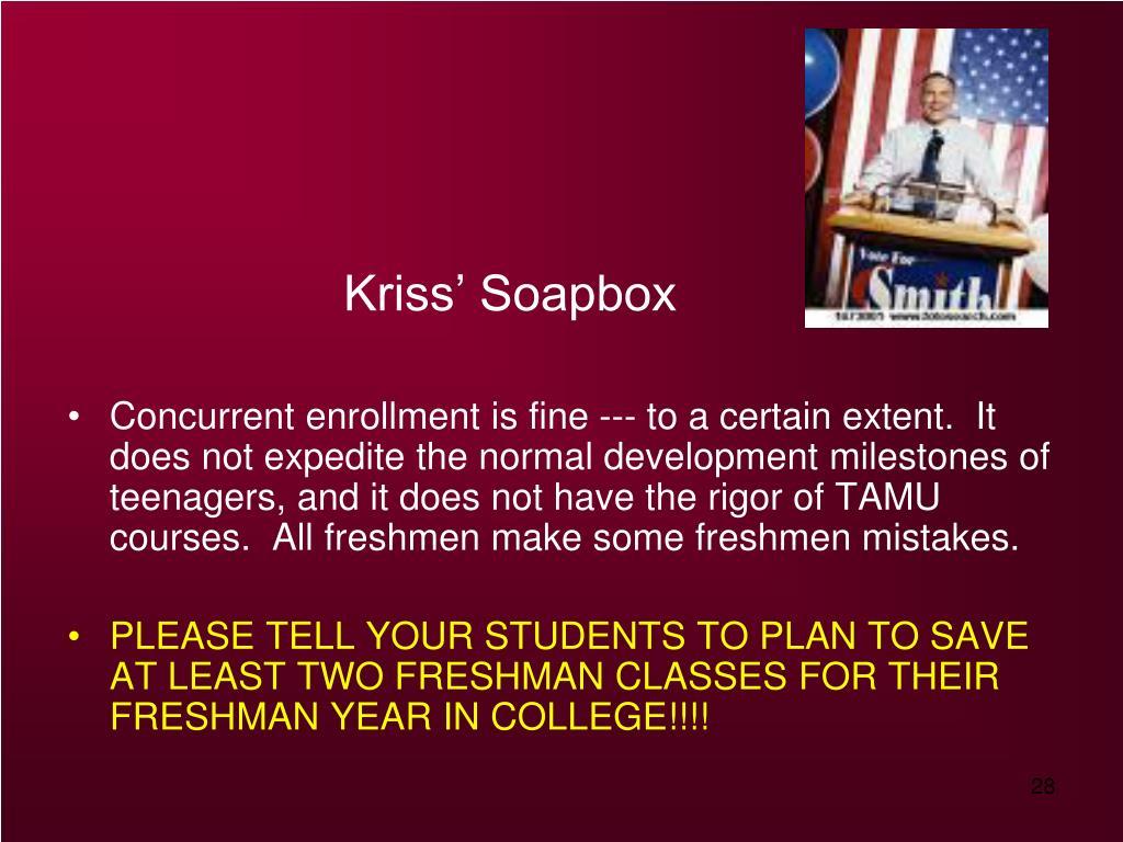 Kriss' Soapbox