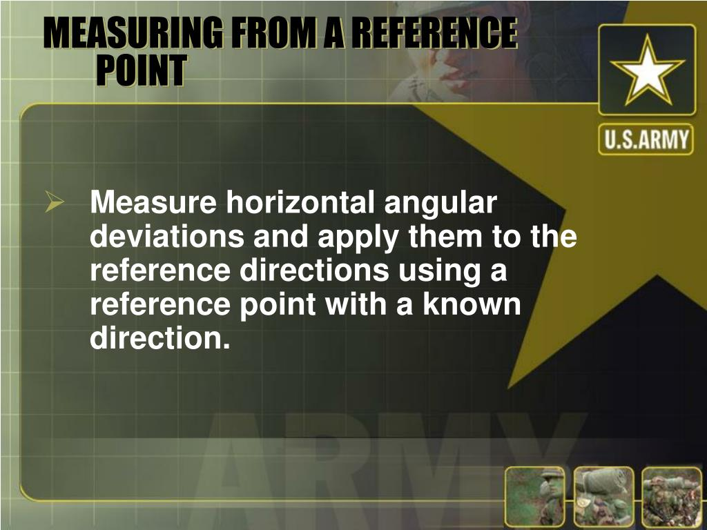 MEASURING FROM A REFERENCE POINT